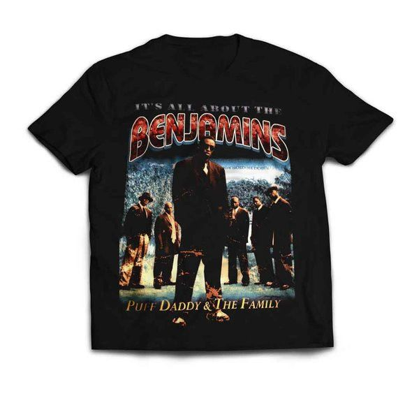 Vintage Style Puff Daddy All About The Benjamins Toddler / Youth Rap T-shirt