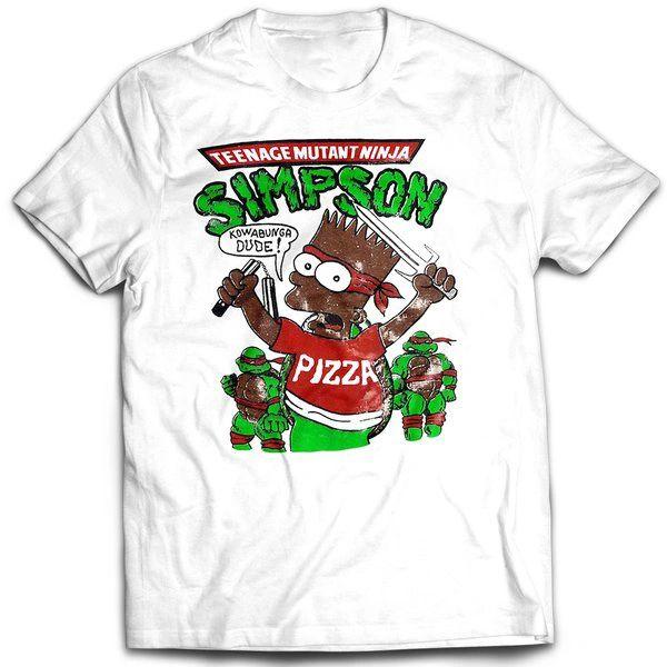 Vintage Style Bootleg Bart Ninja Turtles T-shirt