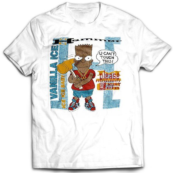 Vintage Style Bootleg Bart U Cant Touch This T-shirt