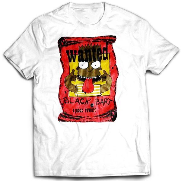Vintage Style Bootleg Bart Wanted T-shirt