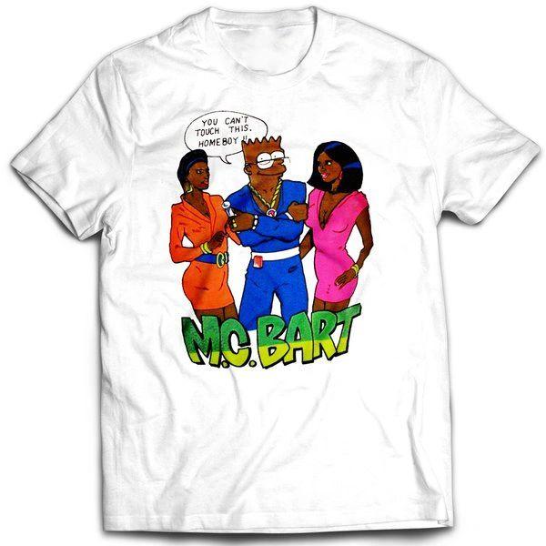 Vintage Style Bootleg Bart M.C. Bart T-shirt