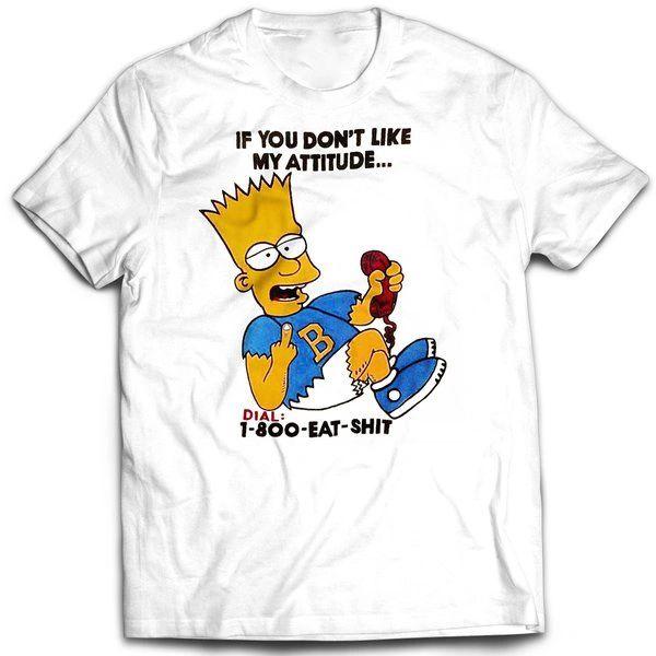 Vintage Style Bootleg Bart My Attitude T-shirt