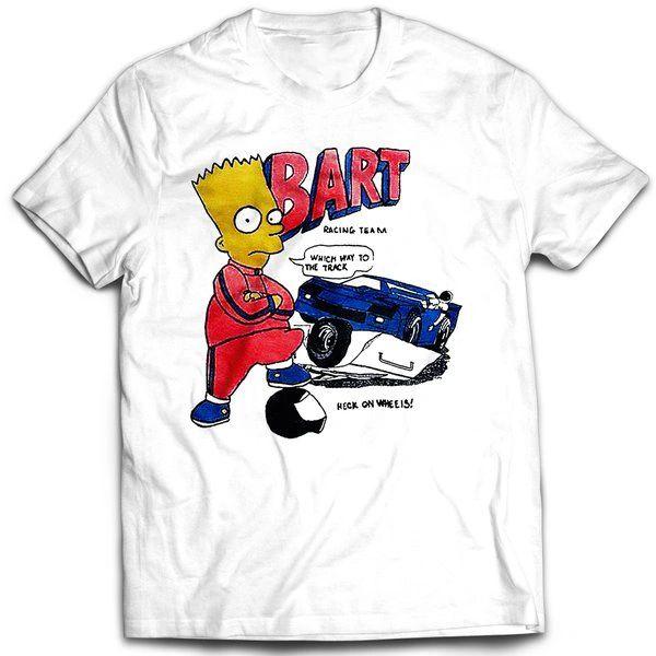 Vintage Style Bootleg Bart Racing Team T-shirt