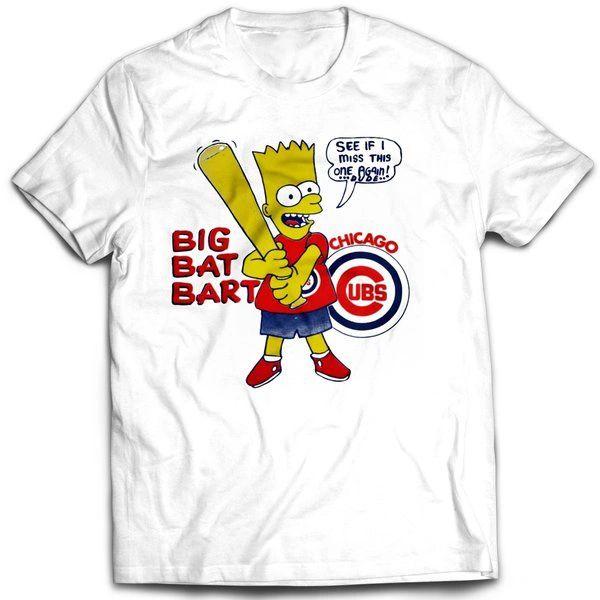 Vintage Style Bootleg Bart Cubs Fan Bart T-shirt