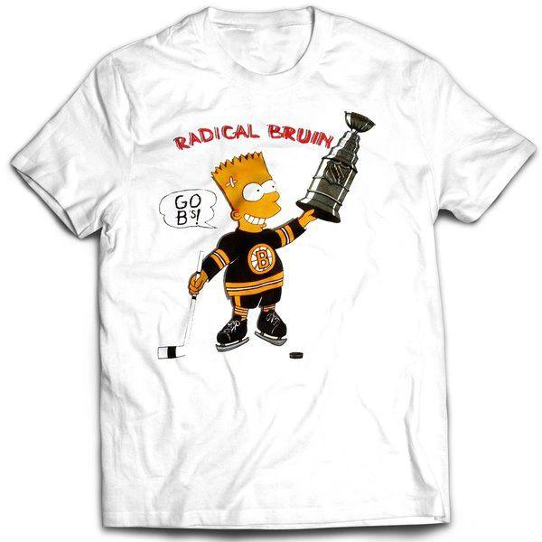 Vintage Style Bootleg Bart Bruins Fan Bart T-shirt
