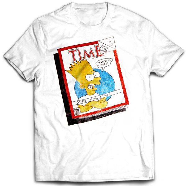 Vintage Style Bootleg Bart Dude Of The Year T-shirt