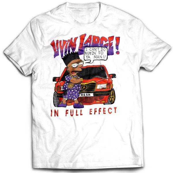 Vintage Style Bootleg Bart Livin Large T-shirt