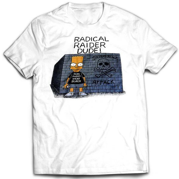 Vintage Style Bootleg Bart Raiders Fan Bart T-shirt