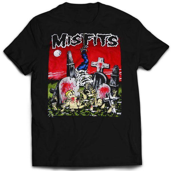 Vintage Style Misfits Graveyard T-shirt