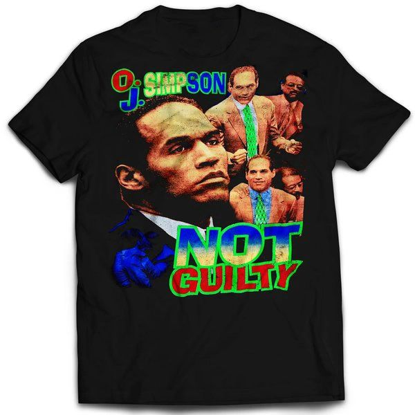 Vintage Style Oj Simpson Not Guilty T-shirt