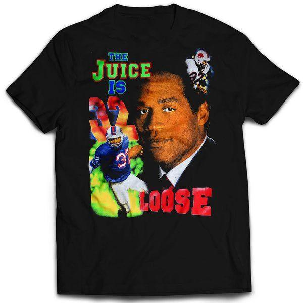Vintage Style Oj Simpson The Juice Is Loose T-shirt