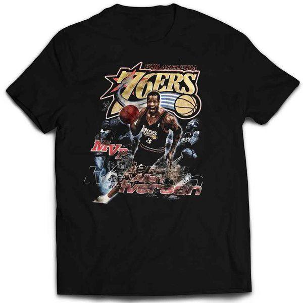 detailed look 82364 e2553 Vintage Style Allen Iverson Mvp T-shirt