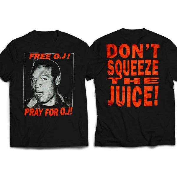 Vintage Style Free Oj Simpson Front & Back Print T-shirt