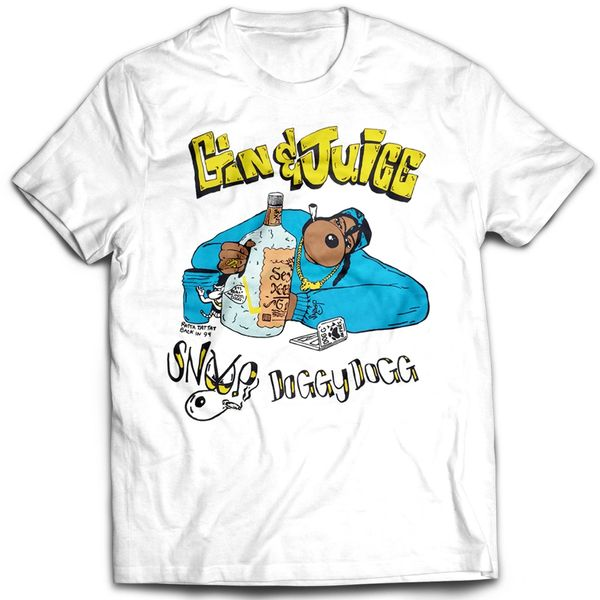 Vintage Style Snoop Dogg Gin And Juice Rap T-shirt