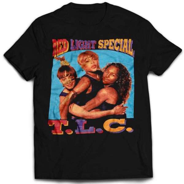 Vintage Style TLC Red Light Special Rap T-shirt