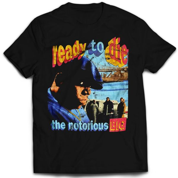 Vintage Style Notorious B.I.G Ready To Die Rap T-shirt