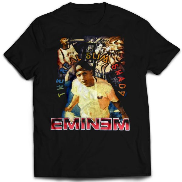 Vintage Style Eminem The Real Slim Shady Rap T-shirt