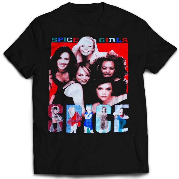 Vintage Style Spice Girls Spice World Tour Rap T-shirt