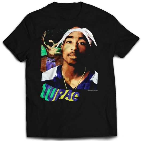 Vintage Style 2Pac Keep Ya Head Up Rap T-shirt (Front & Back Print)