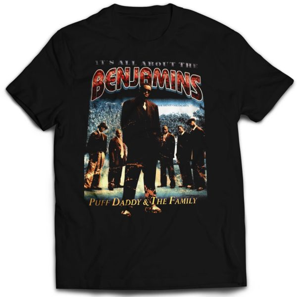 Vintage Style Puff Daddy All About The Benjamins Rap T-shirt