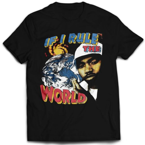 Vintage Style Nas Rule The World Rap T-shirt