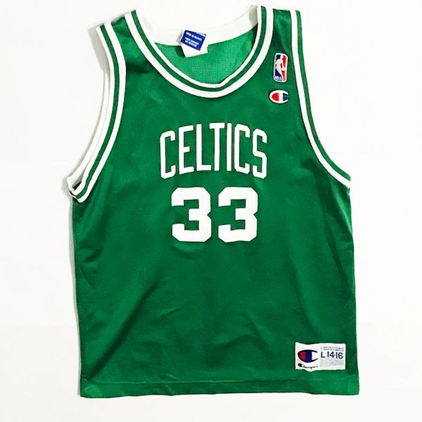 Vintage Boston Celtics Larry Bird Basketball Champion Jersey