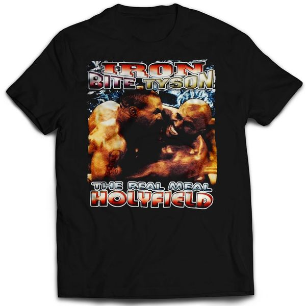 Vintage Style Mike Tyson Real Meal Holyfield Ear Bite T-shirt