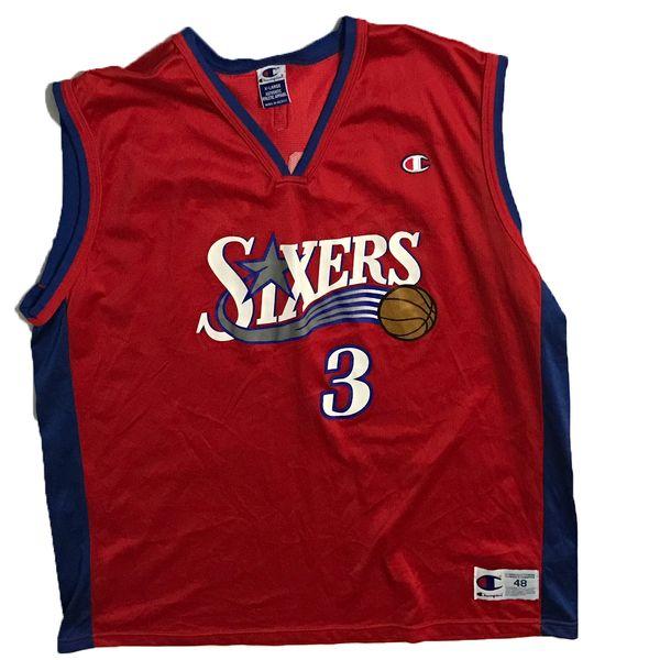 Vintage Philadelphia 76ers Allen Iverson Red Basketball Champion Jersey