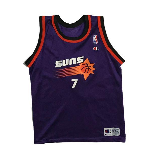 Vintage Phoenix Suns Kevin Johnson Basketball Champion Jersey