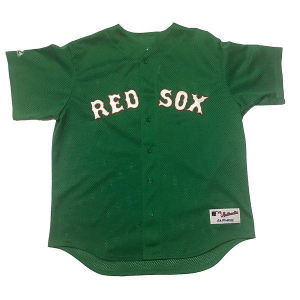 Vintage Boston Red Sox MLB David Ortiz St. Patrick's Day Batting Practice Majestic Jersey