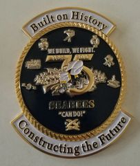 75th Seabee Anniversary Emblem