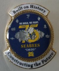 75th Anniversary of the Seabees Lapel Pin
