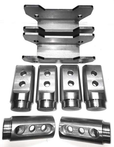 Polaris RZR Bungs XP 1000 Roll Cage Connectors / Adapters Basic 4 Seat Kit