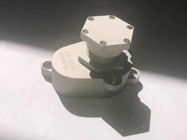 6.0 Oil Cooler BACKFLUSH VALVE/TOOL Kit -GEN 2 USA PATENTED. Hard Surface Matte Finish Anodized Aluminum.