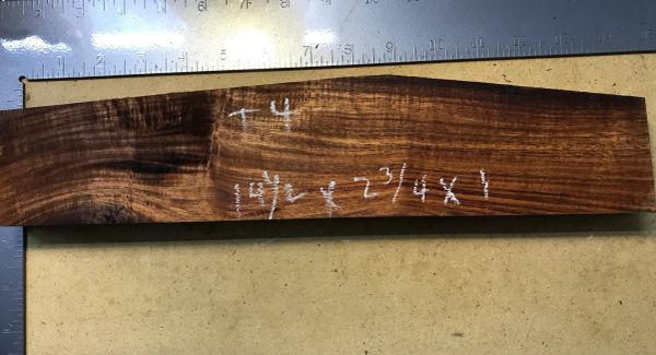 Hawaiian Koa Board Curly 4/4 #T-4