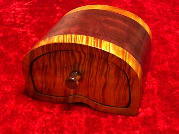 Hawaiian Koa and Purple Heart Jewelry Box