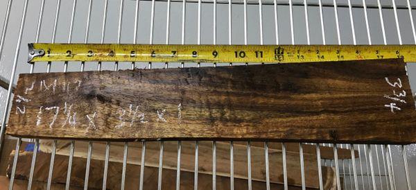 Hawaiian Koa Board Curly Chocolate 4/4 #M-117