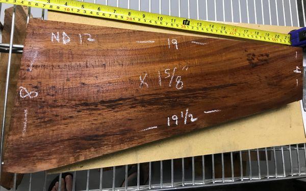 Hawaiian Koa Board Curly 1 5/8 #ND-12