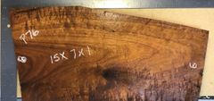 Hawaiian Koa Board Curly 4/4 #P-76