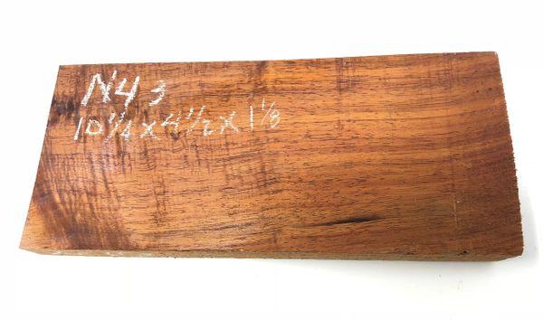 Hawaiian Koa Board Curly 1 1/8 #N-43
