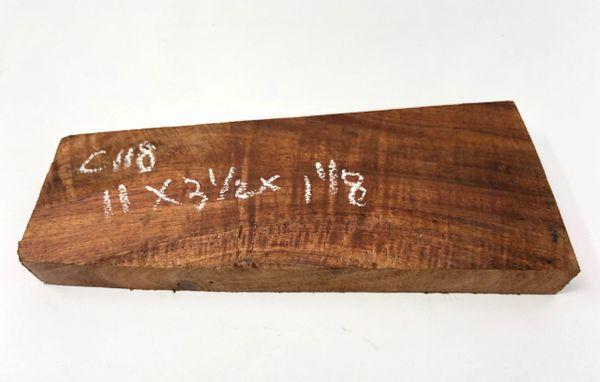 Hawaiian Koa Board Curly 1 1/8 #C-118