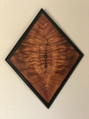 Hawaiian Koa w/ Ebony Trim Clock