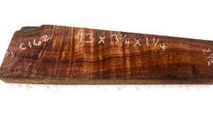 Hawaiian Koa Board Curly 4/4 #C-162