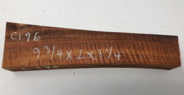 Hawaiian Koa Board Curly 5/4 #C-196