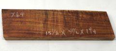Hawaiian Koa Board Curly 5/4 #X-64