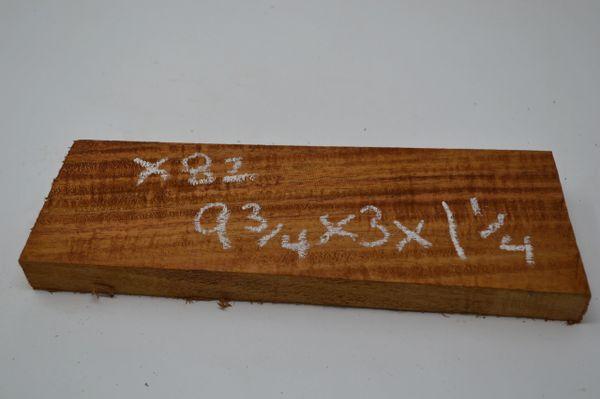 Hawaiian Koa Board Curly 1 1/4 #X-82