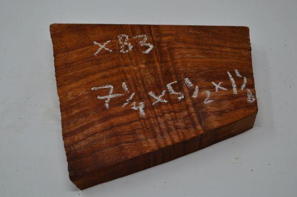 Hawaiian Koa Board Curly 1 1/8 #X-83