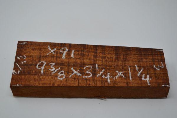 Hawaiian Koa Board Curly 1 1/4 #X-91