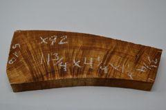 Hawaiian Koa Board Curly 1 1/4 #X-92
