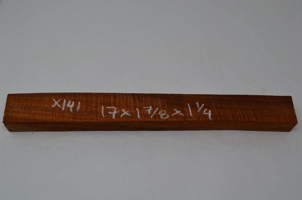 Hawaiian Koa Board Curly 1 1/4 #X-141
